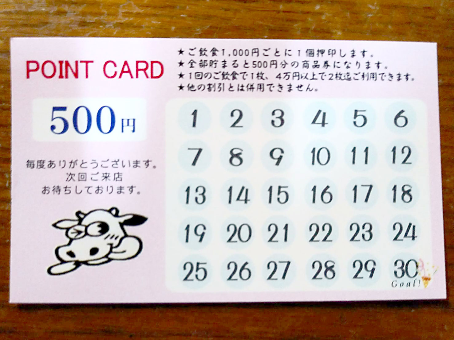 ポイントカードが新しくなりました!